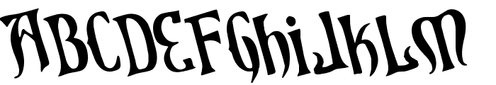 Xiphos Rotated Font UPPERCASE