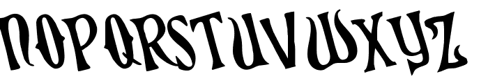 Xiphos Rotated Font LOWERCASE