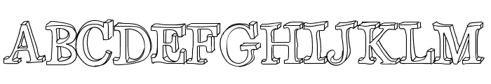 xiImperfect Font UPPERCASE
