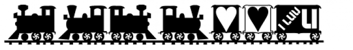 XLaserTrain Font OTHER CHARS