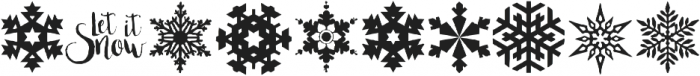 Xmas Snowflakes otf (400) Font OTHER CHARS