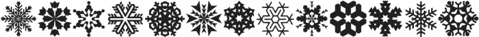 Xmas Snowflakes otf (400) Font UPPERCASE