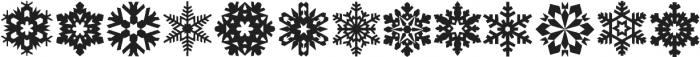 Xmas Snowflakes otf (400) Font LOWERCASE