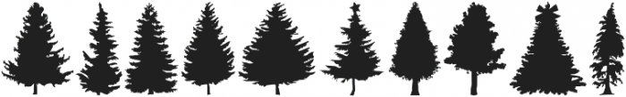 Xmas Trees otf (400) Font OTHER CHARS