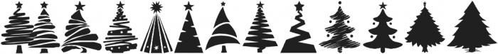 Xmas Trees otf (400) Font UPPERCASE