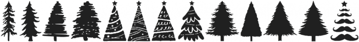 Xmas Trees otf (400) Font LOWERCASE