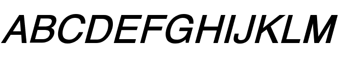 XM Yermook Bold Italic Font UPPERCASE