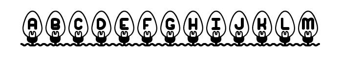 Xmas Lights BRK Font LOWERCASE