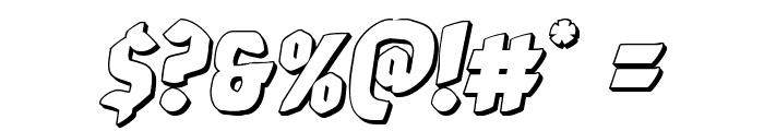 Xmas Xpress 3D Italic Font OTHER CHARS
