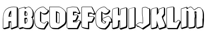 Xmas Xpress 3D Font LOWERCASE