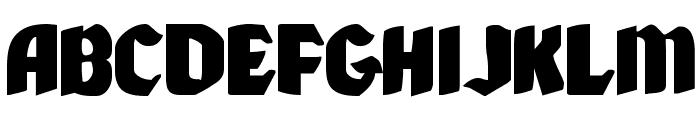 Xmas Xpress Expanded Font UPPERCASE