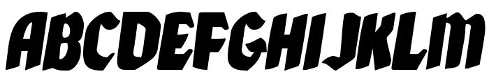 Xmas Xpress Italic Font UPPERCASE
