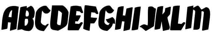 Xmas Xpress Rotated 2 Font UPPERCASE