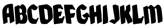 Xmas Xpress Rotated Font UPPERCASE