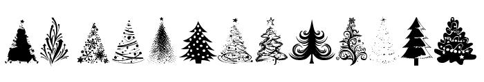 Xmas tfb Christmas Font UPPERCASE