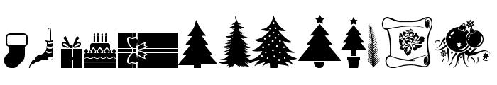 Xmas tfb Christmas Font LOWERCASE
