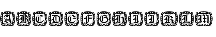 XmasCapsRound Font UPPERCASE