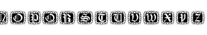 XmasCapsRound Font LOWERCASE
