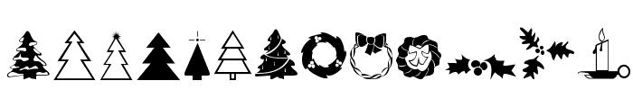 XmasDings Font LOWERCASE