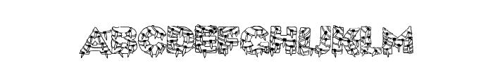 XmasLite Font UPPERCASE