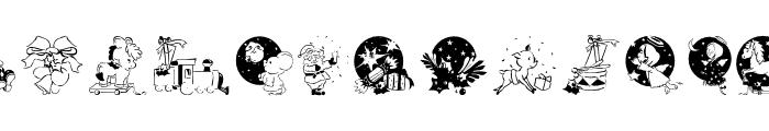 XmasPromotionsSymbols Font LOWERCASE