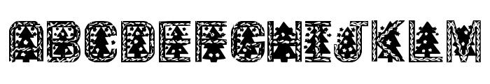 XmasTree Font UPPERCASE