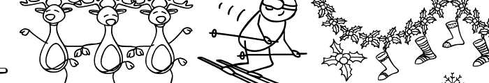 xmas cartoon Font LOWERCASE