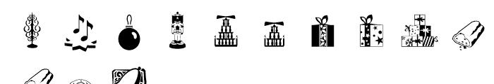 Xmas Essentials Font UPPERCASE