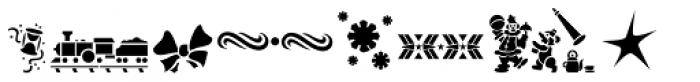 Xmas Stencils JNL Font UPPERCASE