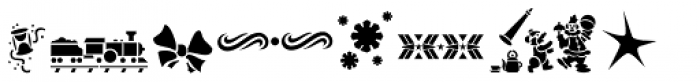 Xmas Stencils JNL Font LOWERCASE