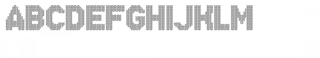 Xmas Sweater Stitch Font UPPERCASE