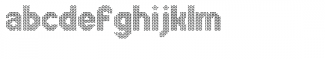 Xmas Sweater Stitch Font LOWERCASE