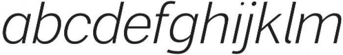 Xpress ExtraLightItalic otf (200) Font LOWERCASE