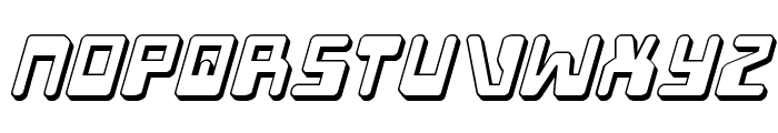 Xped 3D Italic Font LOWERCASE