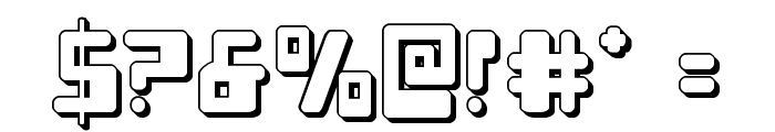 Xped 3D Font OTHER CHARS