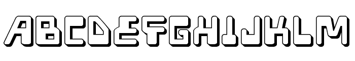 Xped 3D Font LOWERCASE