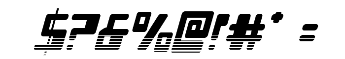 Xped Halftone Italic Font OTHER CHARS
