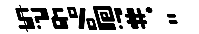 Xped Leftalic Font OTHER CHARS