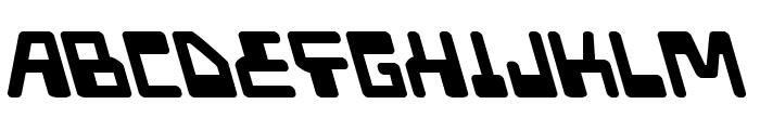 Xped Leftalic Font UPPERCASE