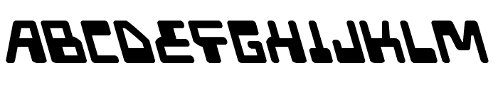 Xped Leftalic Font LOWERCASE