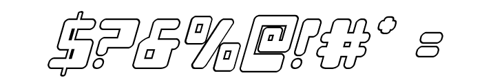 Xped Outline Italic Font OTHER CHARS