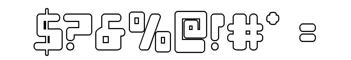 Xped Outline Font OTHER CHARS