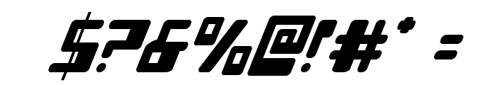 Xped Super-Italic Font OTHER CHARS