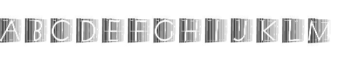 XperimentypoStripes-Two Font UPPERCASE