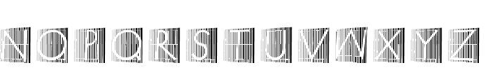 XperimentypoStripes-Two Font LOWERCASE