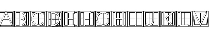 XperimentypoThree-C-Square Font UPPERCASE