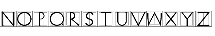 XperimentypoThree Squares Font UPPERCASE