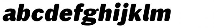 Xpress Rounded italic Heavy Font LOWERCASE