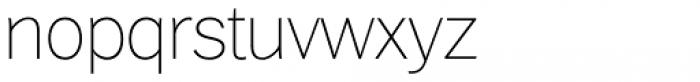 Xpress Thin Font LOWERCASE
