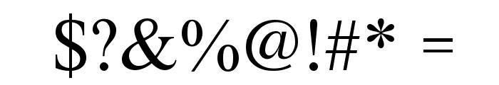 XSerif Unicode Font OTHER CHARS